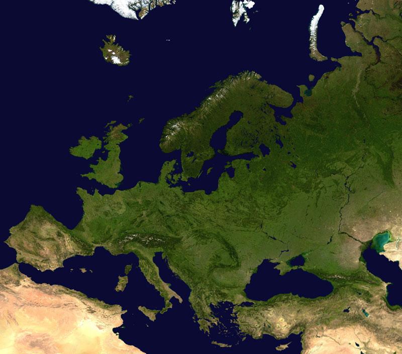 Europe_satellite_globe